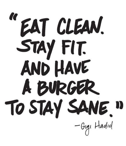 Have a burger to stay sane